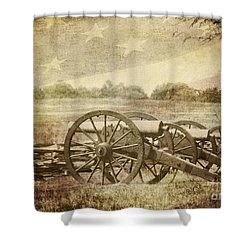 Cannons At Pea Ridge Shower Curtain