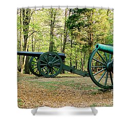 Cannons I Shower Curtain