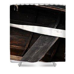Canoe And Oar Shower Curtain by Mary Carol Story