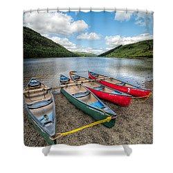 Canoe Break Shower Curtain by Adrian Evans