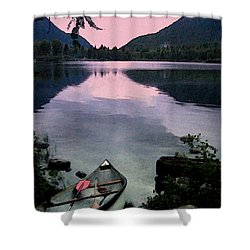 Shower Curtain featuring the photograph Canoe Day by Kathy Bassett