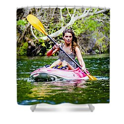 Canoe For Girls Shower Curtain by Sotiris Filippou