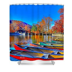 Canoe In Waiting Shower Curtain