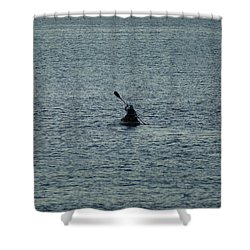 Shower Curtain featuring the photograph Canoeing In The Florida Riviera by Rafael Salazar