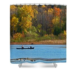 Canoer 2 Shower Curtain