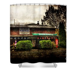 Canoes For Rent Shower Curtain by Dan Friend