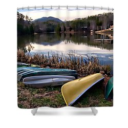 Canoes In Nc Shower Curtain