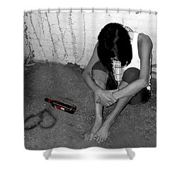 Can't Drink You Off My Mind Shower Curtain by Kristie  Bonnewell