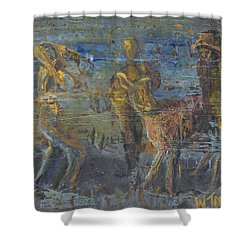 'can't Force A Mule' Shower Curtain
