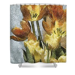 Can't Wait For Spring Shower Curtain by Trish Tritz