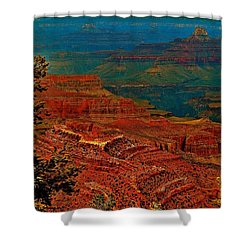 Canyon Colours Show Through Shower Curtain