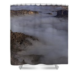 Canyon Rims Float In Fog Shower Curtain