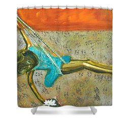 Shower Curtain featuring the painting Canyon Road Sculpture by Keith Thue