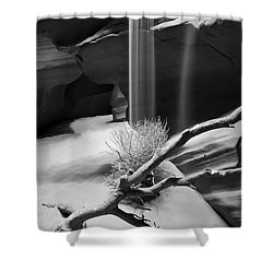 Shower Curtain featuring the photograph Canyon Sandfall by Bryan Keil