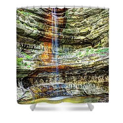Canyon Starved Rock State Park Shower Curtain