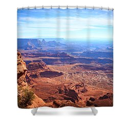Shower Curtain featuring the photograph Canyonlands - A Landscape To Get Lost In by Peta Thames