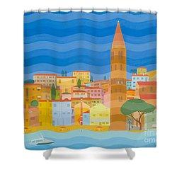 Caorle Shower Curtain by Emil Parrag