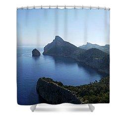Cap De Formentor Shower Curtain by John Chatterley