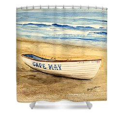Cape May Lifeguard Boat - 2 Shower Curtain