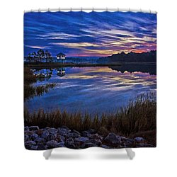 Cape Charles Sunrise Shower Curtain by Suzanne Stout