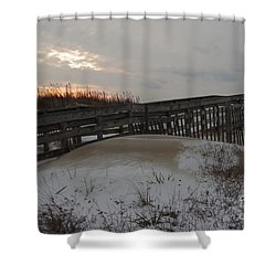 Cape Charles Winter Shower Curtain