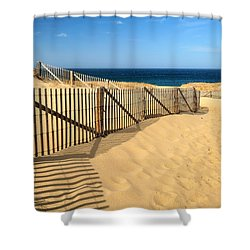 Cape Cod Beach Shower Curtain by Mitchell R Grosky