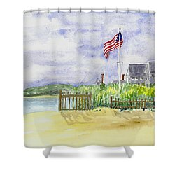 Massachusetts -cape Cod Cottages Shower Curtain