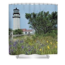 Cape Cod Lighthouse Shower Curtain by John Haldane