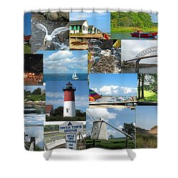 Cape Cod Vacation Land Shower Curtain by Barbara McDevitt