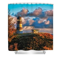 Cape Disappointment Light House Shower Curtain