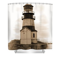 Cape Disappointment Lighthouse Shower Curtain by Cathy Anderson