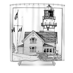 Cape Elizabeth Lighthouse Shower Curtain