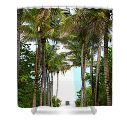 Cape Florida Walkway Shower Curtain by Carey Chen