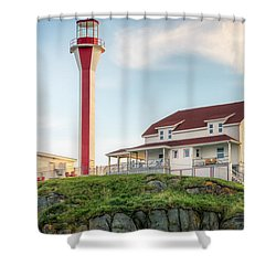 Cape Forchu Lighthouse Shower Curtain