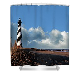 Cape Hatteras Lighthouse Nc Shower Curtain by Skip Willits