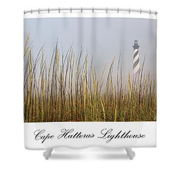 Cape Hatteras Lighthouse In The Fog Shower Curtain