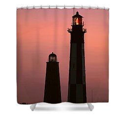 Cape Henry Lighthouses  Shower Curtain
