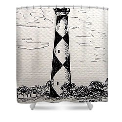 Cape Lookout Lighthouse Nc Shower Curtain