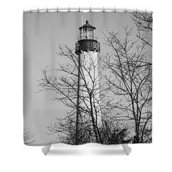 Cape May Light B/w Shower Curtain