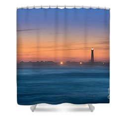 Cape May Lighthouse Sunset Shower Curtain