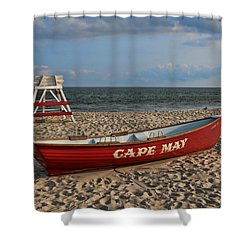 Cape May N J Rescue Boat Shower Curtain