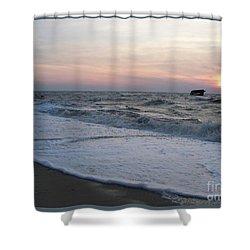 Cape May Sunset Beach Nj Shower Curtain by Eric  Schiabor