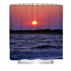 Cape May Sunset Shower Curtain by Richard Bryce and Family