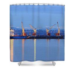 Cape Moreton Shower Curtain by E Faithe Lester
