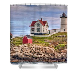 Cape Neddick Nubble Lighthouse II Shower Curtain by Clarence Holmes
