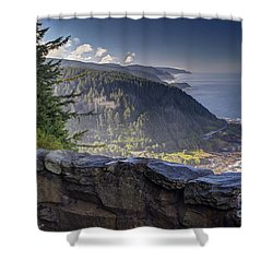 Cape Perpetua Lookout Shower Curtain