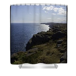 Cape Spear Coast Line  Shower Curtain