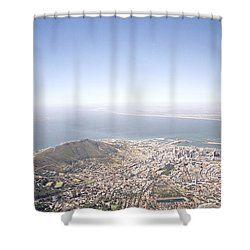 Cape Town Panorama Shower Curtain by Shaun Higson