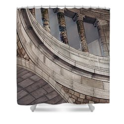 Capitol Curves Shower Curtain by Art Whitton