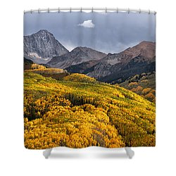 Capitol Peak In Snowmass Colorado Shower Curtain